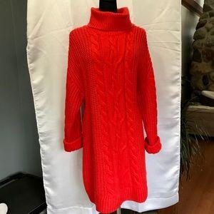 Bright sweater dress